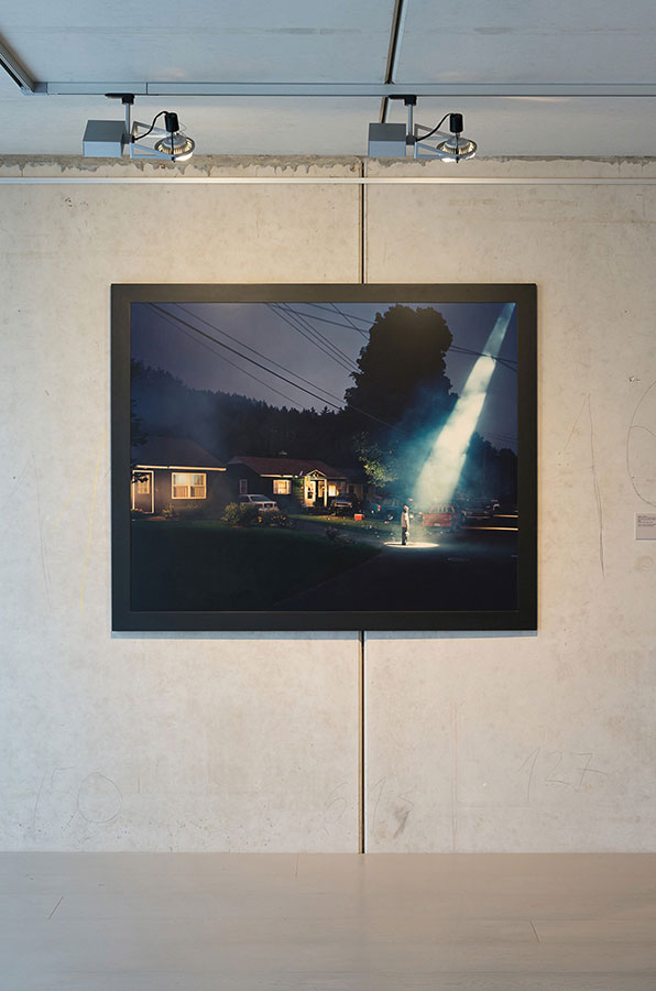 Heimat 08: Exhibition view with a work by Gregory Crewdson
