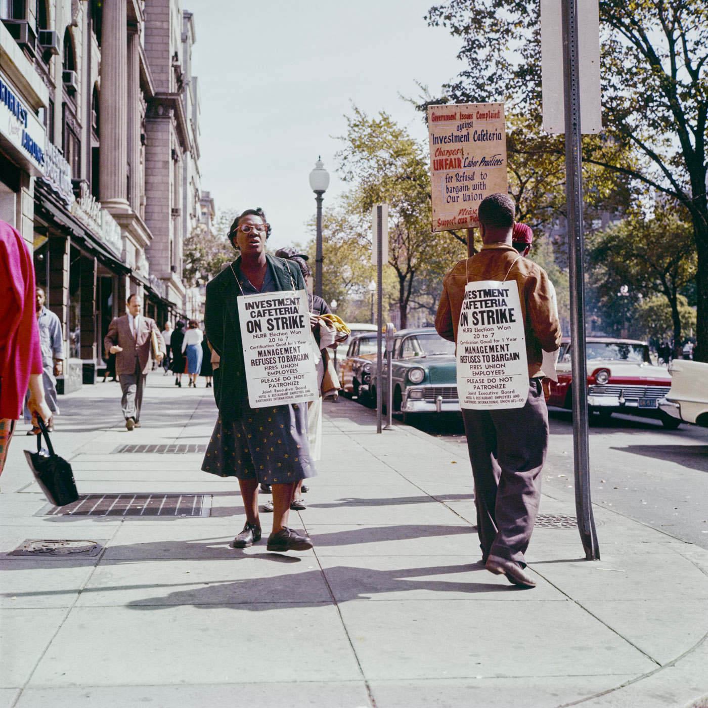 "With his eyes wide open 05: Max Näder ""Strike pickets, Washington D.C."" (1957)"