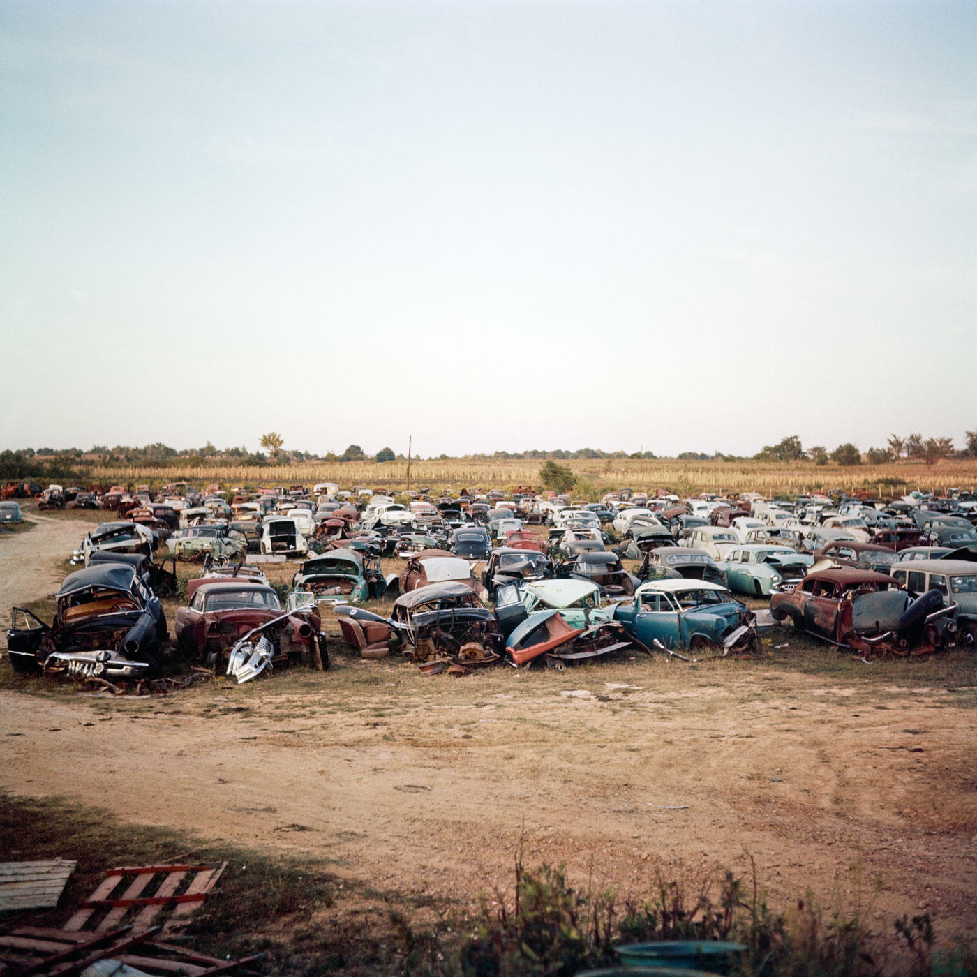 "With his eyes wide open 06: Max Näder ""Car dump, place unknown"" (1956)"